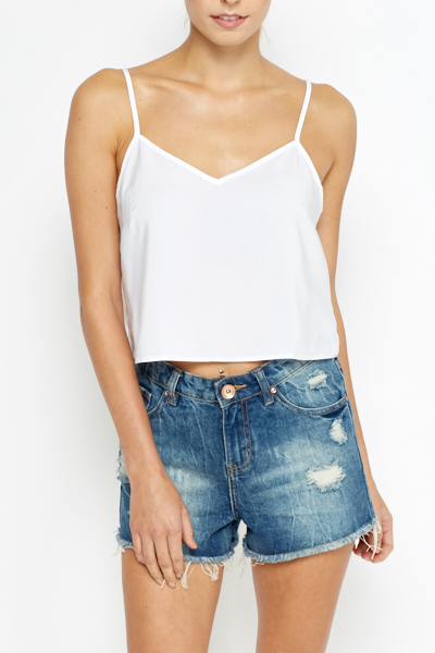 Cropped White Cami