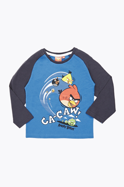 Dark Navy Sleeve Angry Birds Top