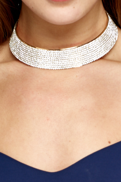 Diamante Encrusted Collar