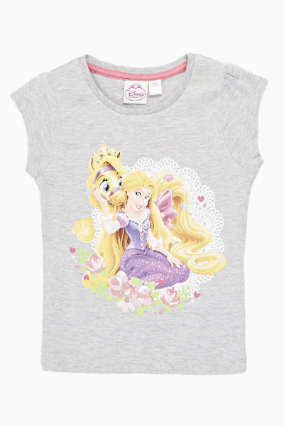 Disney Princess Print Grey Top