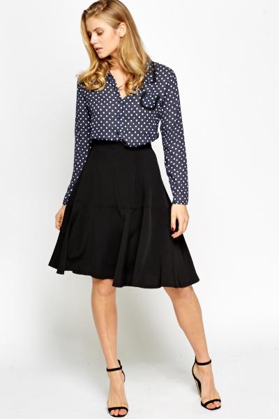 high waist flared skirt just 163 5