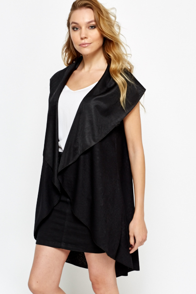 Jacquard Waterfall Cardigan
