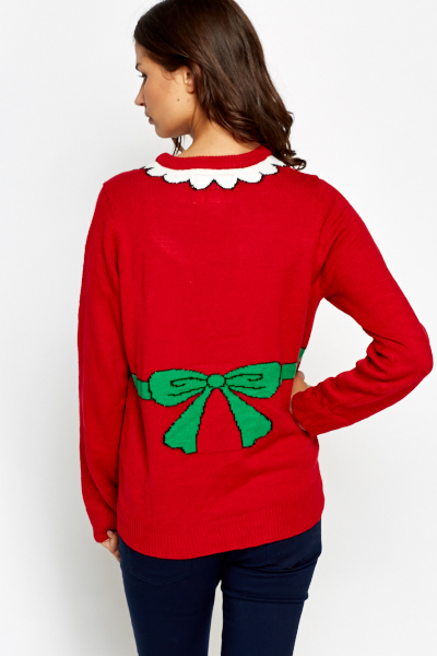 Knit Apron Contrast Christmas Jumper