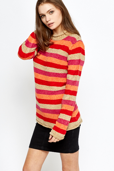 Multicoloured Striped Jumper