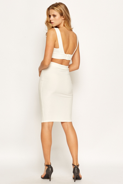 Off White Bodycon Skirt