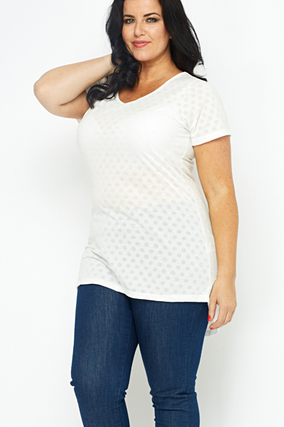 Polka Dot White Top
