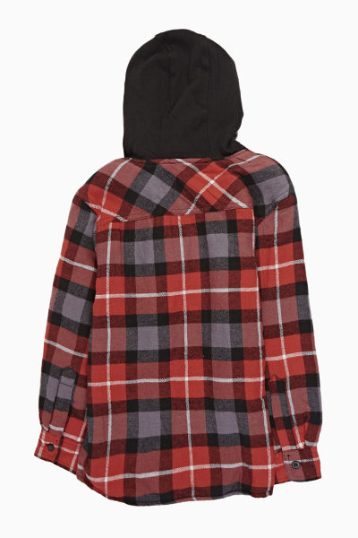 Red Check Hooded Jacket