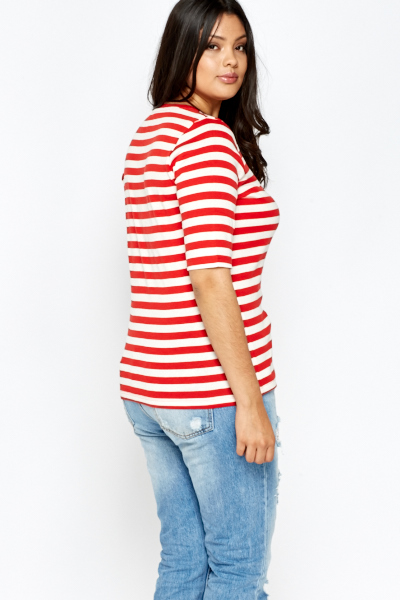Red Striped Top