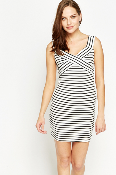 Stripy Sailor Bodycon Dress