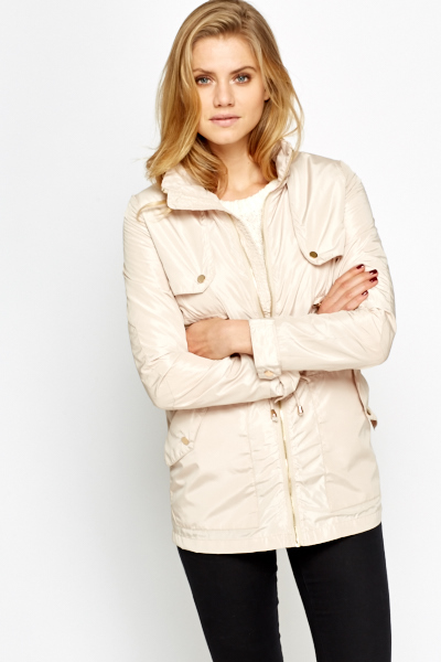 Zip Detail Rain Coat