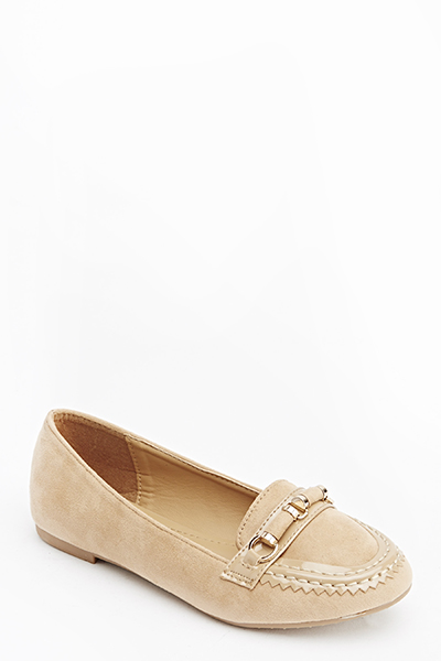 Contrast Gold Detail Flats