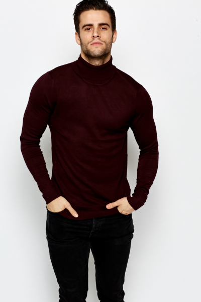 Ribbed Roll Neck  Jumper