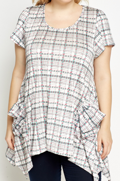Safety Pin Dipped Hem Tunic