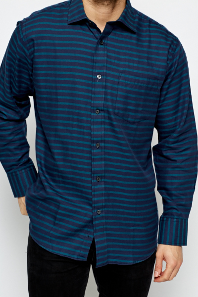 Turquoise Striped Shirt