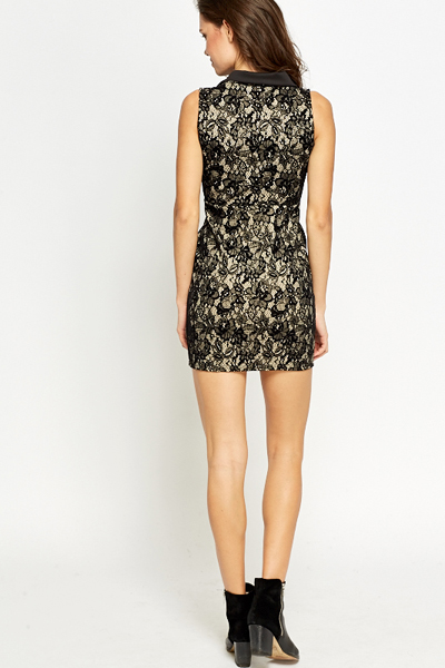 Collared Lace Bodycon Dress