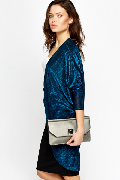 Dark Blue Metallic Cardigan
