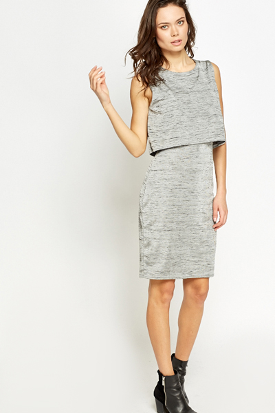 Overlay Silver Dress