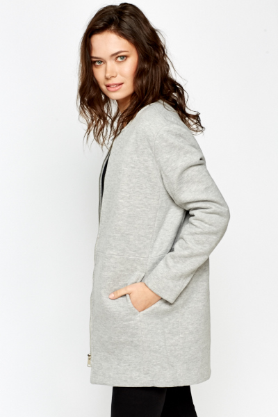 Round Neck Duster Jacket