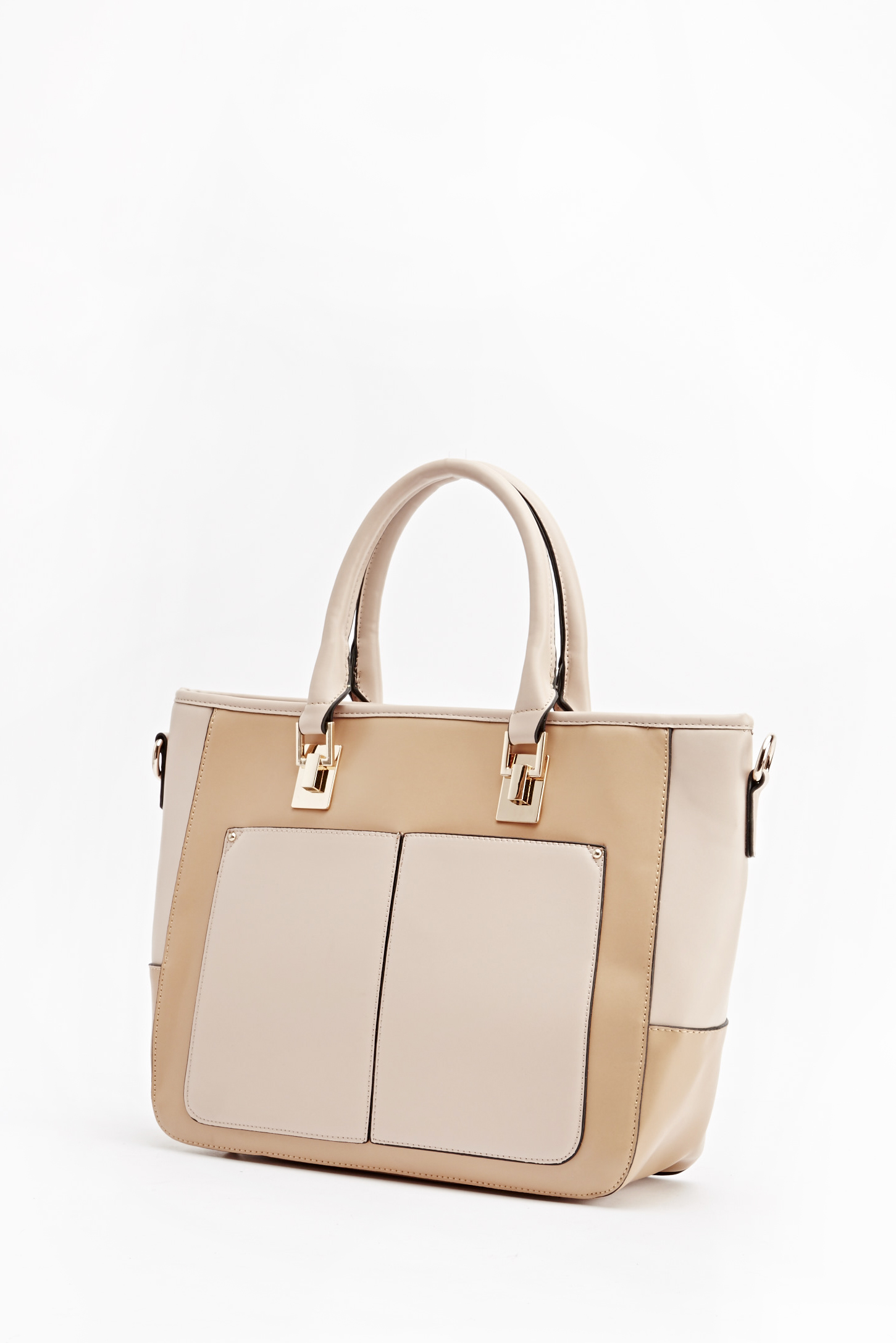 Camel Faux Leather Bag