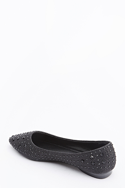 Diamante Pointed Flats