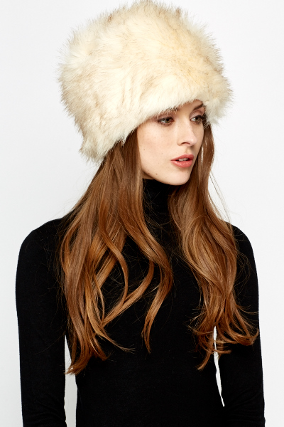 Image of Faux Fur Pillbox Hat