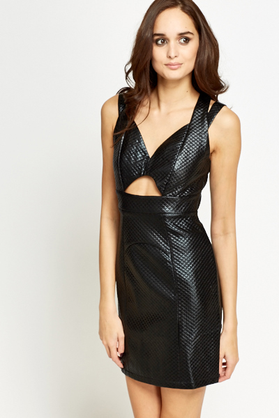 Sweetheart Quilted Black Dress