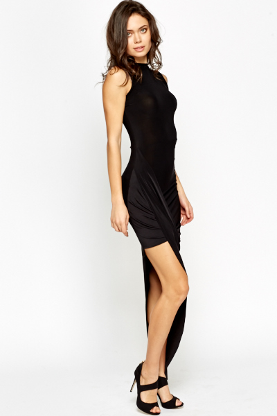 Asymmetric Bodycon Wrap Dress