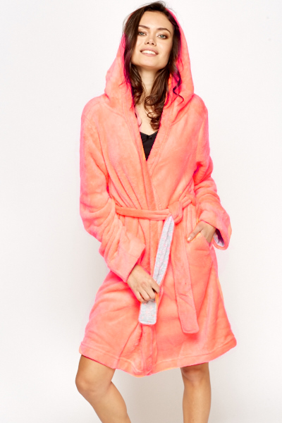 Neon Pink Soft Dressing Gown