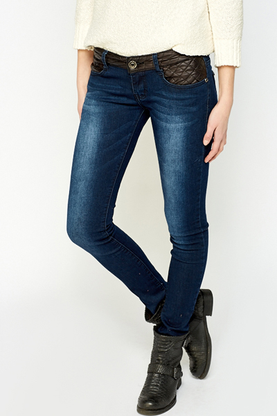 Quilted Insert Jeans