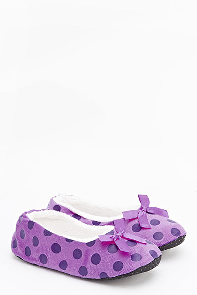 Polka Dot Slipper Socks