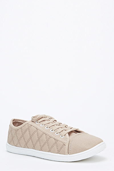 Quilted Canvas Trainers