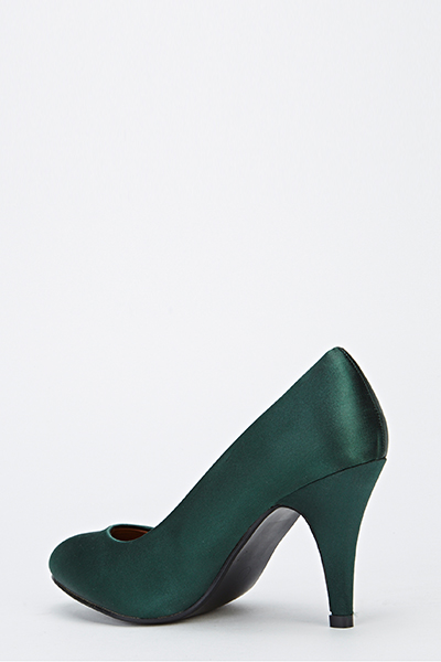 Sateen Kitten Heels