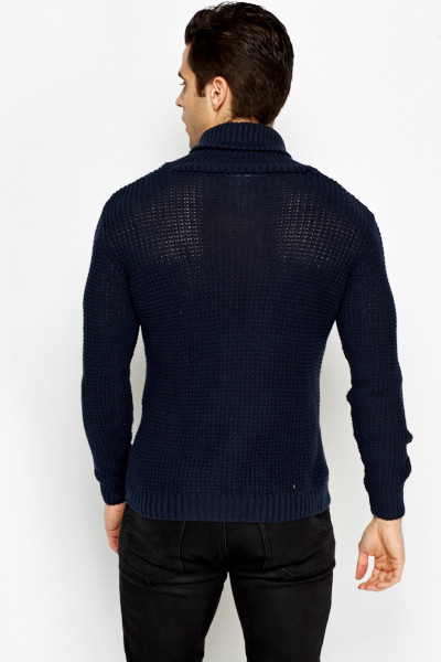 Collared Loose Knit Jumper