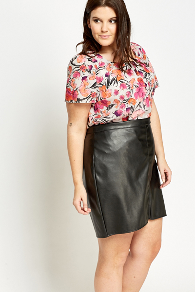 Fuchsia Floral Pleated Top