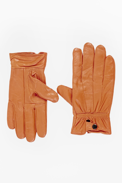 Faux Leather Lined Gloves