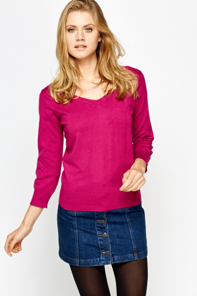 Formal V-Neck Jumper
