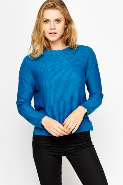 Loose Knit Basic Ribbed Jumper