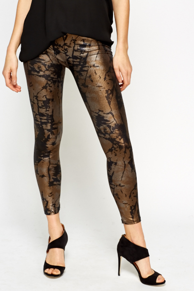 Printed Textured Leggings