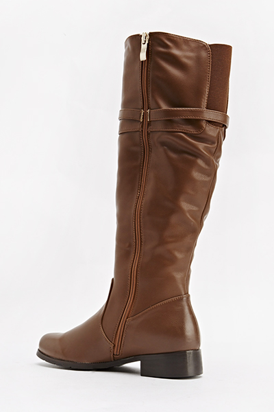 Camel Faux Leather Boots