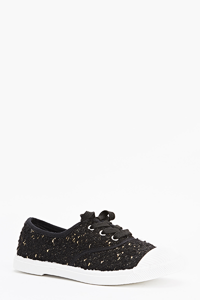 Contrast Knitted Lace Up Trainers