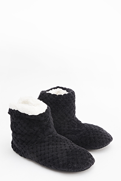 Fleece Bootie Slippers