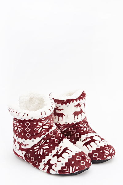 Reindeer Printed Slippers