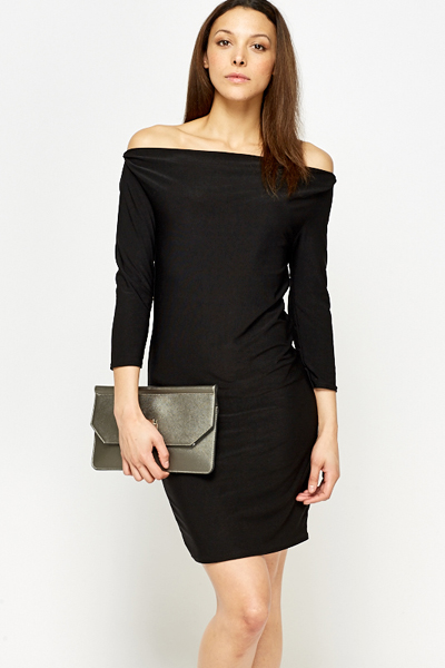 8039d9aa173e Black Off Shoulder Dress - Just £5
