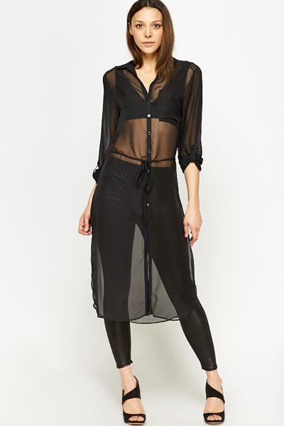 237308b4c Sheer Longline Shirt - Just £5