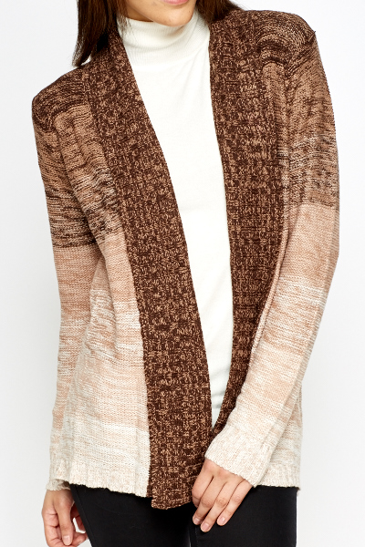 Striped Ombre Cardigan