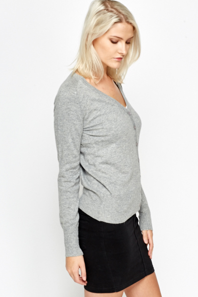 Casual V-Neck Cardigan
