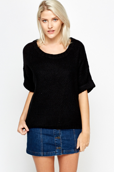 Cropped Oversize Jumper
