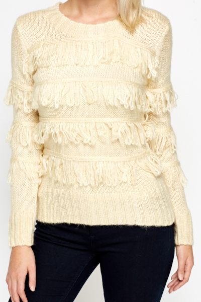 Tassel Panel Knitted Jumper