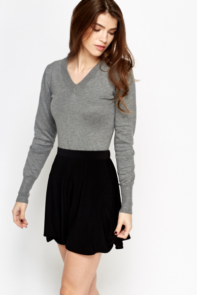 Basic Ribbed Knit Jumper