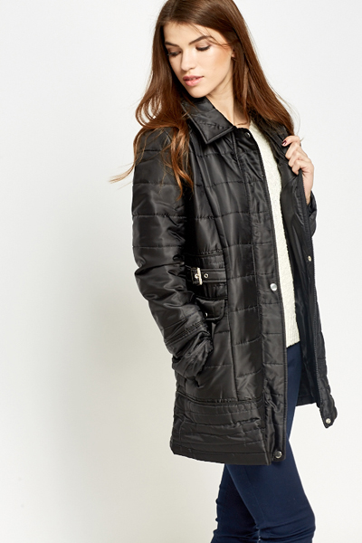 Long Quilted Padded Coat